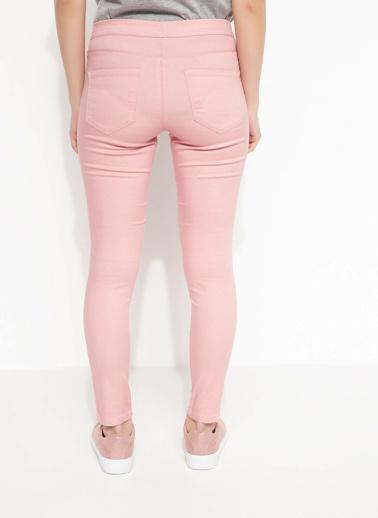 DeFacto Elastik Bel Extra Slim Fit Pantolon Pembe